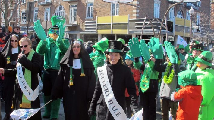 March with us in Quebec City's St. Patrick's Day Parade