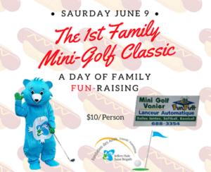 family mini golf classic fun raiser june 9 wellness centre les