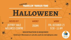 Travellin' Toddler Time: Halloween @ From the comfort of your home via video-conference